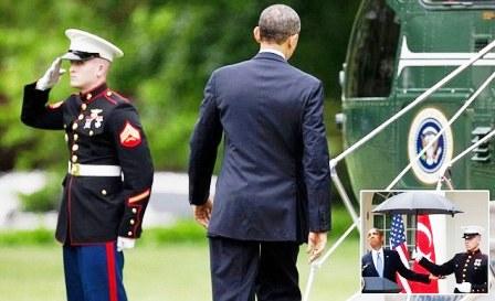 Obama and Marines